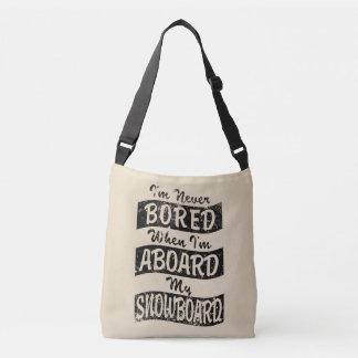 Bolsa Ajustável Nunca furado A BORDO de meu SNOWBOARD (preto)