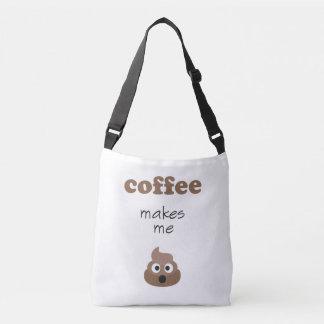 Bolsa Ajustável O café engraçado faz-me a frase do emoji do