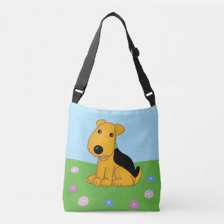 Bolsa Ajustável O cão de filhote de cachorro bonito w de Airedale
