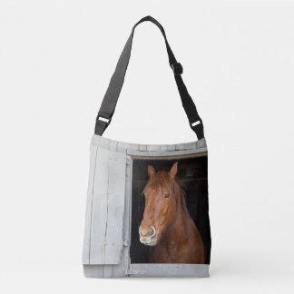 Bolsa Ajustável O cavalo de um quarto da castanha que espera para