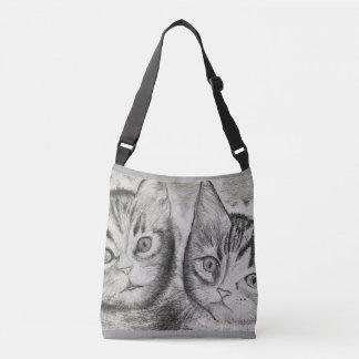 Bolsa Ajustável O duo dos gatinhos, ► monocromático Craftiespot da