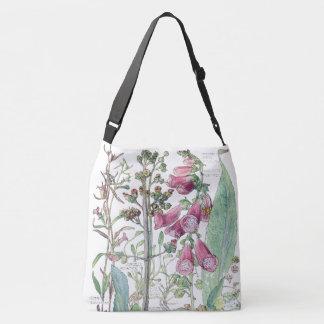 Bolsa Ajustável O Foxglove botânico do vintage floresce a sacola