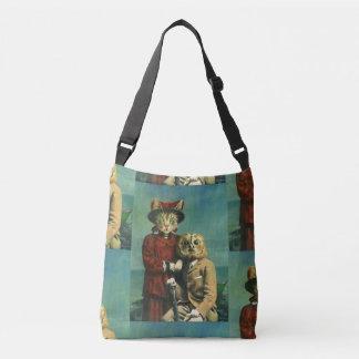 Bolsa Ajustável O gato da coruja e do bichano cruza sobre o saco