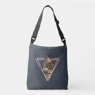 Bolsa Ajustável O gato de gato malhado com falso cora quadro