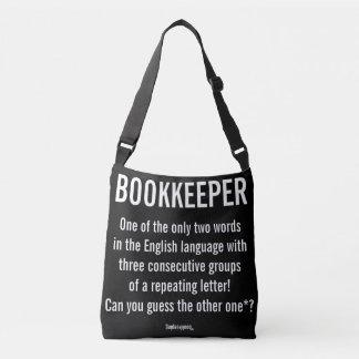 """Bolsa Ajustável O """"guarda-livros é uma palavra original """""""