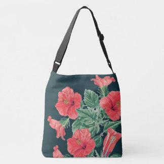 Bolsa Ajustável O hibiscus vermelho tropical botânico floresce a