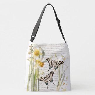 Bolsa Ajustável O narciso botânico da borboleta floresce a sacola