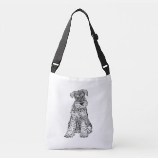 Bolsa Ajustável O saco do cão do Schnauzer, dobra tomado partido