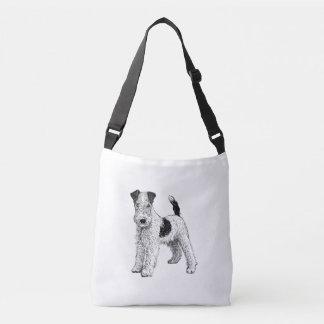 Bolsa Ajustável O saco do design do Fox Terrier, dobra tomado