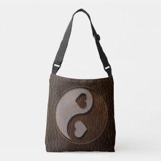 Bolsa Ajustável Obscuridade do coração de Yin Yang do Couro-Olhar