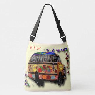 Bolsa Ajustável Ônibus e girassol do Hippie