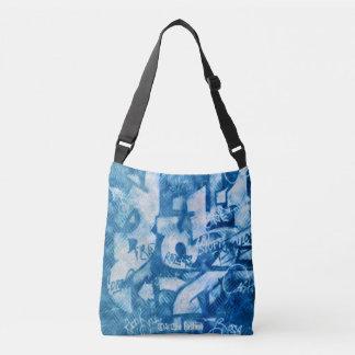 Bolsa Ajustável Os grafites azuis #22 - toda sobre - imprimem o