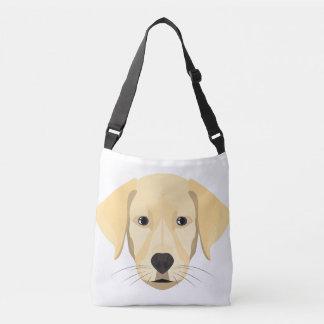 Bolsa Ajustável Ouro Retriver do filhote de cachorro da ilustração