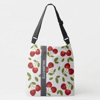 Bolsa Ajustável Padrões vermelhos da fruta das cerejas