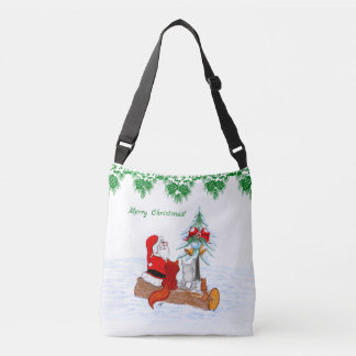 Bolsa Ajustável Papai Noel com Fox do coelho e esquilo
