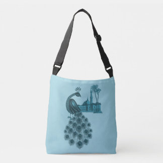 Bolsa Ajustável Pavão azul romântico