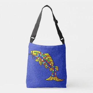 Bolsa Ajustável Peixes abstratos coloridos corajosos grandes no