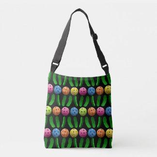 Bolsa Ajustável Pickleballs e sacola das salmouras do verde