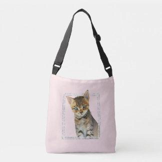 Bolsa Ajustável Pintura do gatinho do gato malhado com quadro de