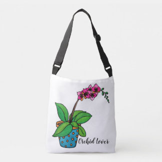 Bolsa Ajustável Planta da orquídea da aguarela no pote bonito