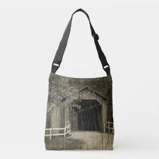 Bolsa Ajustável Ponte coberta da angra de Sandy do tom do Sepia
