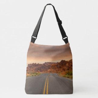 Bolsa Ajustável Por do sol da viagem por estrada