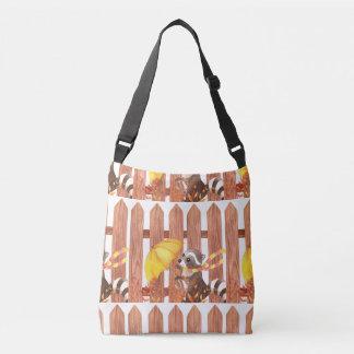 Bolsa Ajustável racoon com guarda-chuva que anda pela cerca