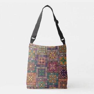 Bolsa Ajustável Retalhos do vintage com elementos florais da