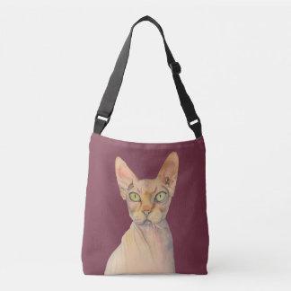Bolsa Ajustável Retrato da aguarela do gato de Sphynx