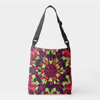 Bolsa Ajustável rosa alaranjado do verde geométrico do saco para o
