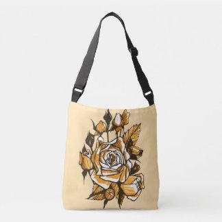 Bolsa Ajustável Rosas, arte floral gráfica, flores cor-de-rosa de