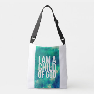 Bolsa Ajustável Saco cristão: Eu sou uma criança do deus