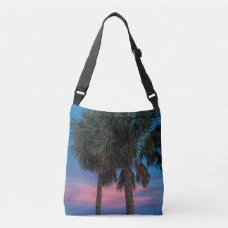 Bolsa Ajustável Saco crossbody do por do sol e das palmeiras