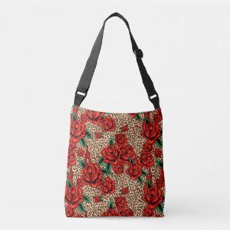 Bolsa Ajustável saco crossbody dos rosas do leopardo