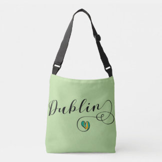 Bolsa Ajustável Saco customizável do coração de Dublin, irlandês