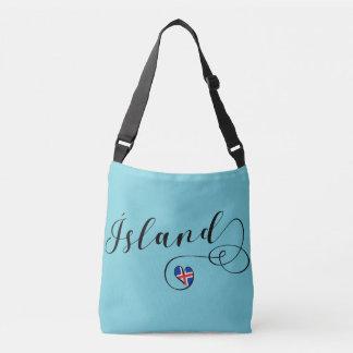 Bolsa Ajustável Saco customizável do coração de Ísland Islândia