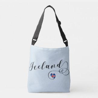 Bolsa Ajustável Saco customizável do coração de Islândia, islandês