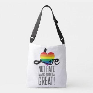 Bolsa Ajustável Saco do estilingue do ódio do amor não (arco-íris)
