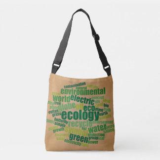 Bolsa Ajustável Saco do vintage da nuvem do Tag da ecologia