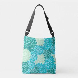 Bolsa Ajustável Saco floral boémio do verde azul do Aqua da