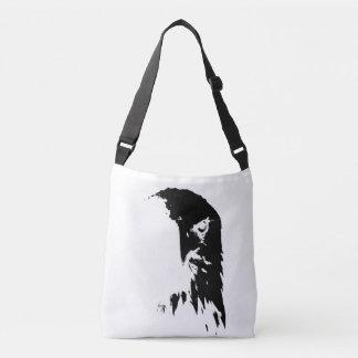 Bolsa Ajustável Saco preto & branco da águia americana