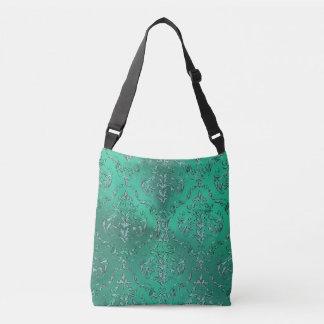 Bolsa Ajustável Saco verde metálico do damasco dos peixes do sinal