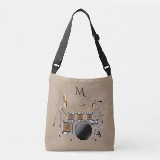 Bolsa Ajustável Sacola ajustada do monograma do baterista do