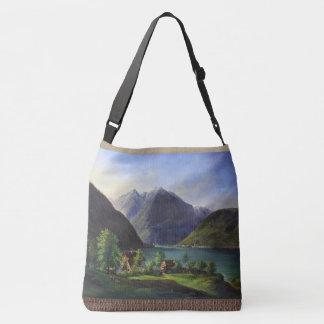 Bolsa Ajustável Sacola alpina da vila de montanhas dos cumes das