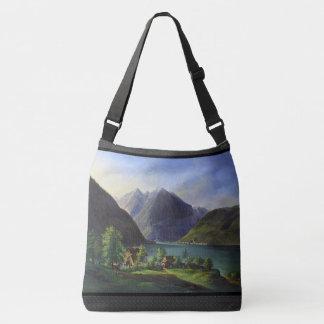 Bolsa Ajustável Sacola alpina das cabines dos cumes das montanhas