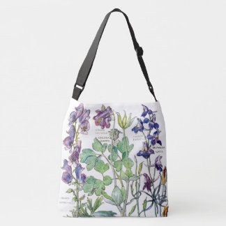 Bolsa Ajustável Sacola aquilégia das flores do Delphinium botânico