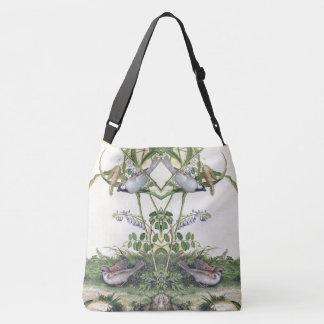 Bolsa Ajustável Sacola asiática do ombro dos Wildflowers dos