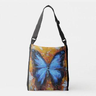 Bolsa Ajustável Sacola azul vibrante bonita da borboleta
