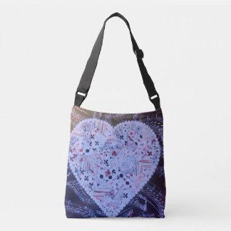 Bolsa Ajustável Sacola azulada bonito do coração