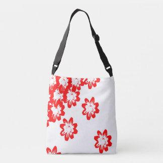 Bolsa Ajustável sacola com flores vermelhas